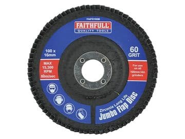 Abrasive Jumbo Flap Disc 100mm Medium